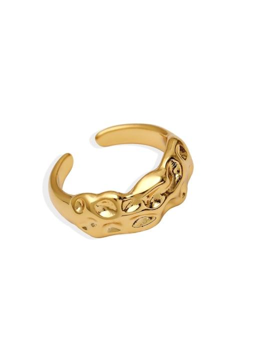 HYACINTH Brass Irregular Vintage Band Ring 0