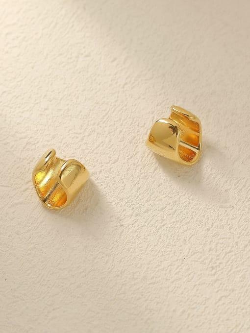 HYACINTH Brass Smooth Geometric Minimalist Clip Trend Korean Fashion Earring 2