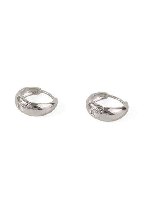 Drop Brass Smooth Geometric Minimalist Huggie Earring