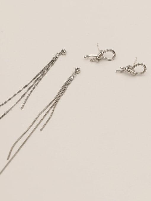 HYACINTH Brass Tassel Minimalist Threader Earring 4