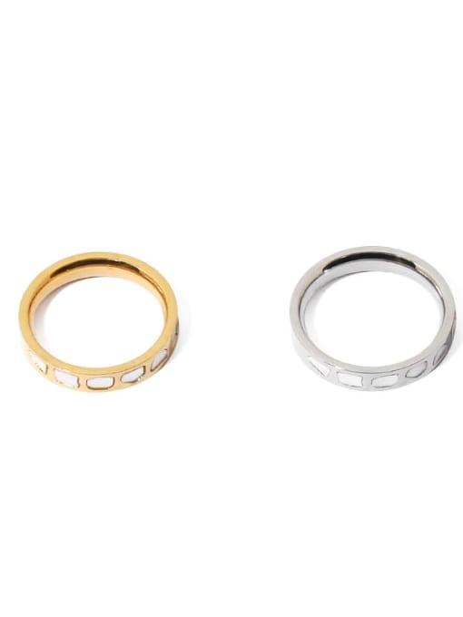 TINGS Brass Shell Irregular Vintage Band Ring 3