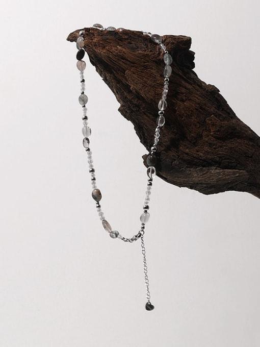 TINGS Brass Imitation Pearl Irregular Hip Hop Necklace 1