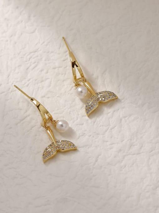 HYACINTH Brass Cubic Zirconia Fish Trend Drop Trend Korean Fashion Earring 3