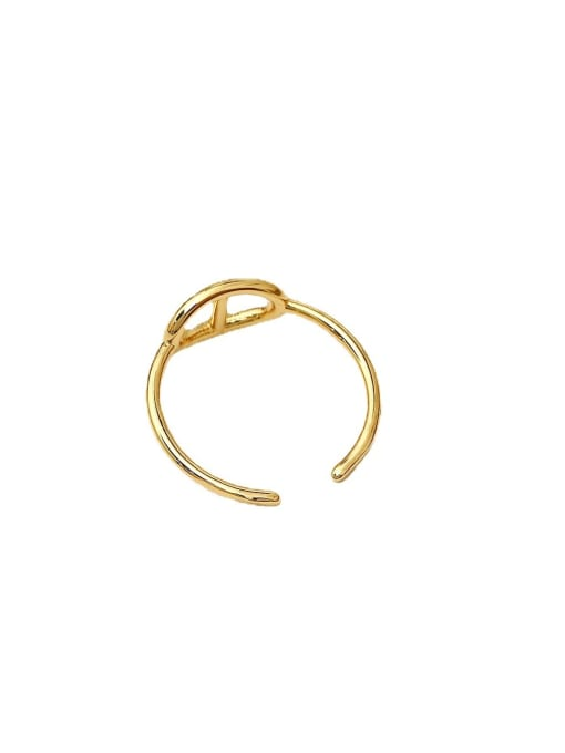 HYACINTH Brass Geometric Minimalist Band Ring 3