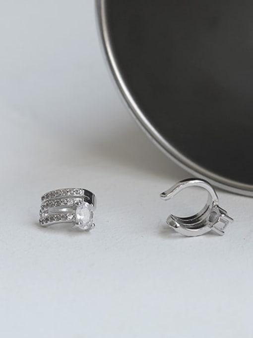 ACCA Brass Cubic Zirconia Geometric Classic Stud Earring 3