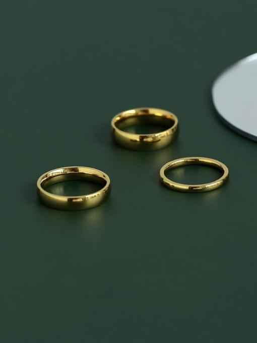 Five Color Titanium Steel Round Minimalist Band Ring 2