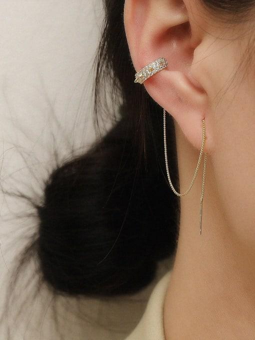 HYACINTH Brass Tassel Vintage Threader Earring 2