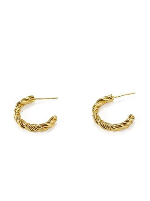 (presale) 2 (order of detail pages) Brass  Smooth Irregular Vintage Stud Earring