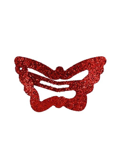 gules Alloy Multi Color Cute Butterfly  Hair Barrette