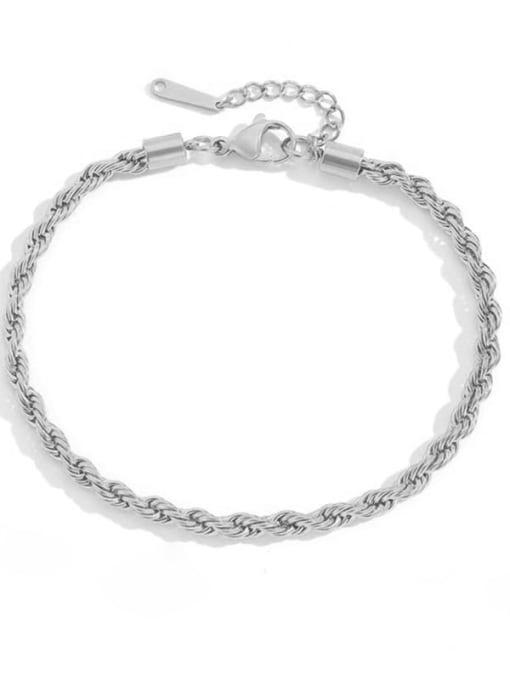 Desoto Stainless steel  Irregular Minimalist Anklet 4
