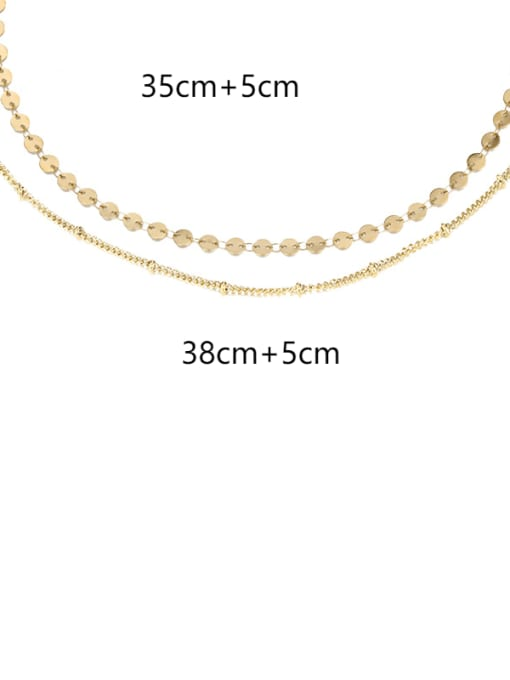 14K gold Stainless steel Round Minimalist Multi Strand Necklace