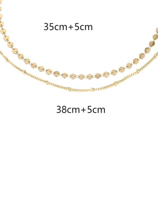 Desoto Stainless steel Round Minimalist Multi Strand Necklace 4