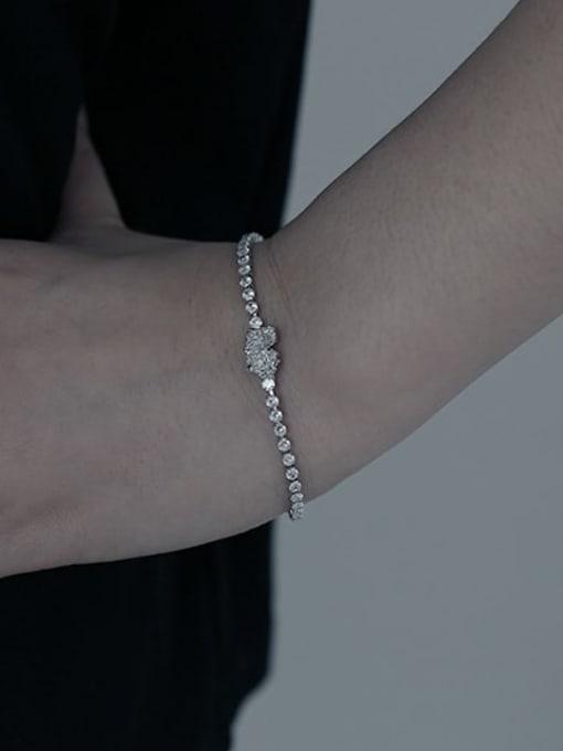 TINGS Brass Cubic Zirconia Geometric Hip Hop Bracelet 1