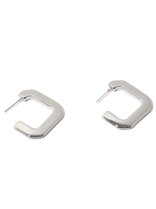 TINGS Brass Smooth Geometric Minimalist Stud Earring 4