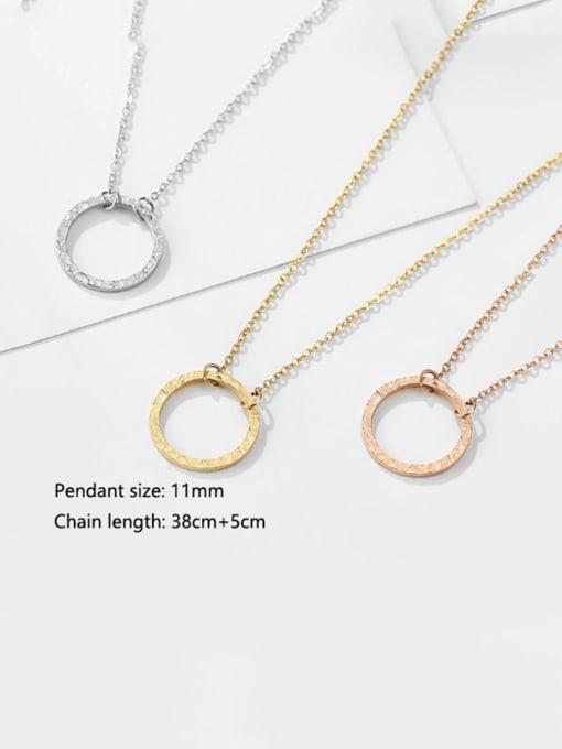 Desoto Stainless steel Round Minimalist Multi Strand Necklace 3