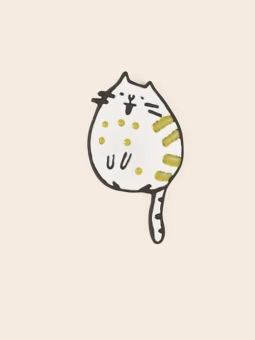 Five Color Alloy Enamel Cat Cute Stud Earring 2