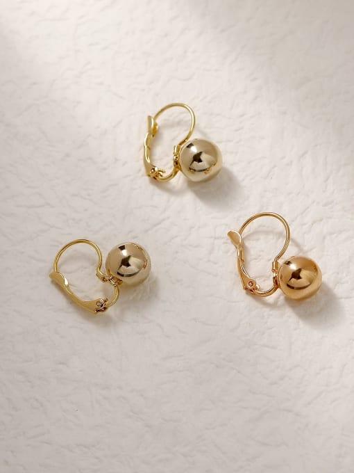HYACINTH Brass Ball Vintage Hook Trend Korean Fashion Earring 3
