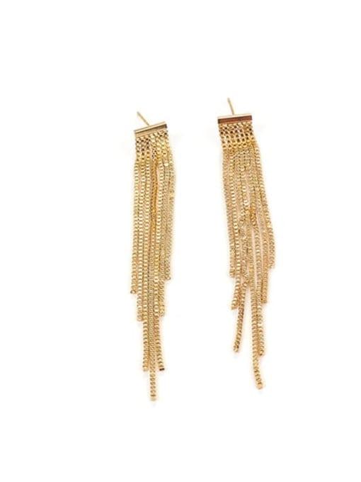 Tassel Earrings Brass Tassel Trend Threader Earring
