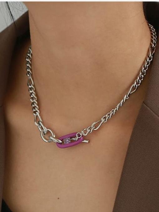 ACCA Brass Enamel Geometric Vintage Necklace 1