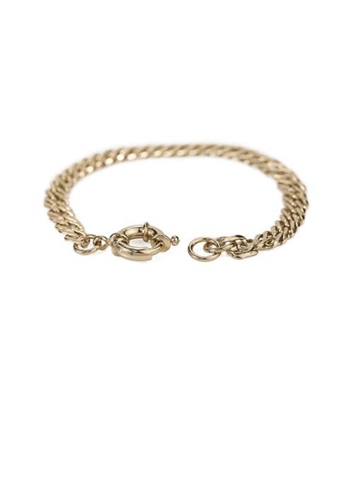 ACCA Brass  Hollow Geometric Vintage  Simple and versatile chain bracelet 3