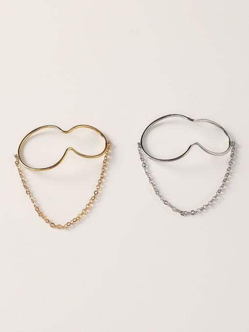 HYACINTH Brass Geometric Minimalist Clip Earring 3