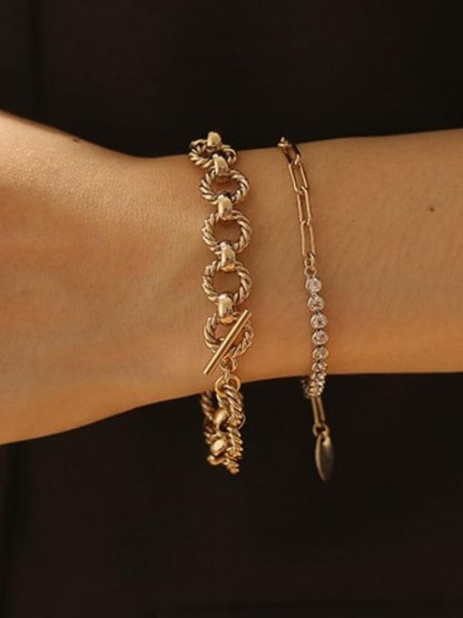 ACCA Brass hollow Geometric  chain Artisan Link Bracelet 1