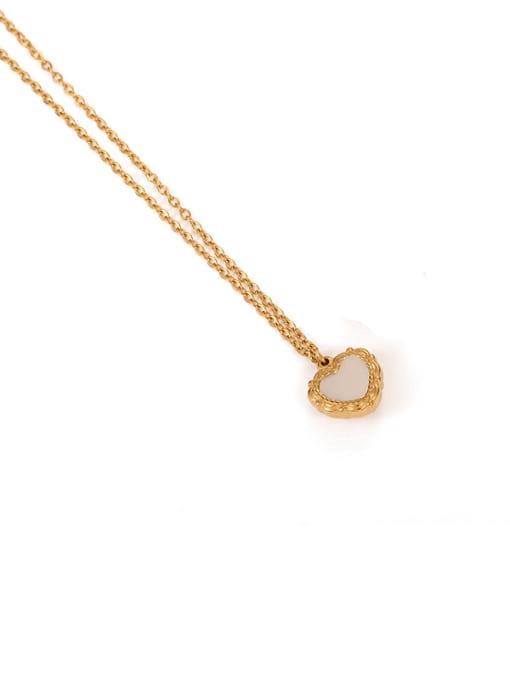 shell Brass Shell Heart Minimalist Necklace