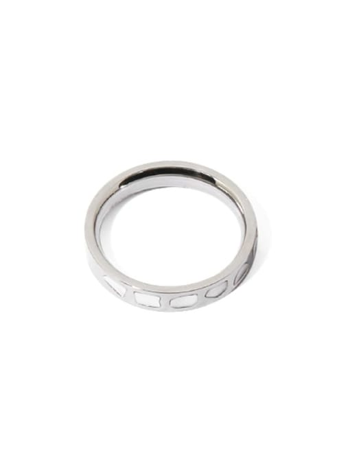 Steel color Brass Shell Irregular Vintage Band Ring