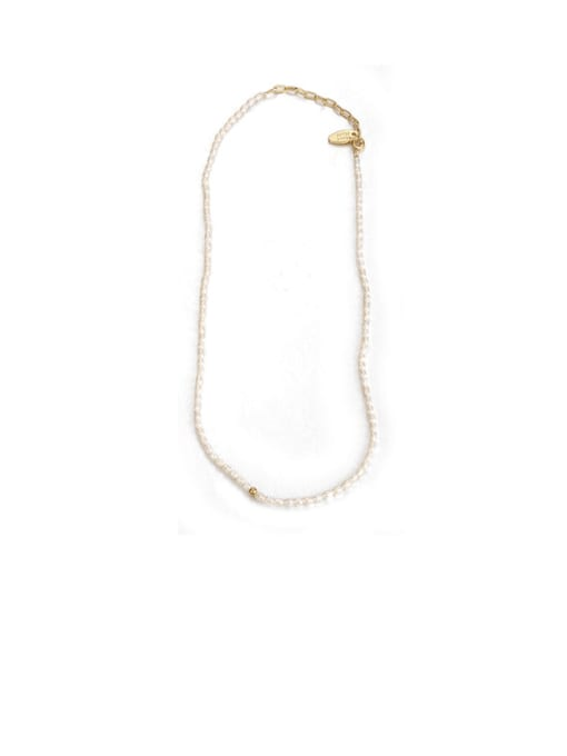 All Pearl Necklace Brass Imitation Pearl Star Vintage Necklace