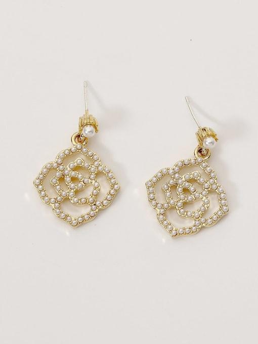 HYACINTH Brass Imitation Pearl Geometric Bohemia Hook Earring 3
