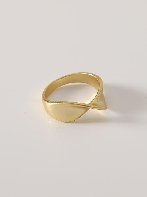 HYACINTH Brass Irregular Minimalist Band Ring 0