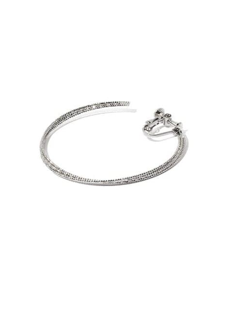 steel(screw clip) Brass Geometric Minimalist Clip Earring