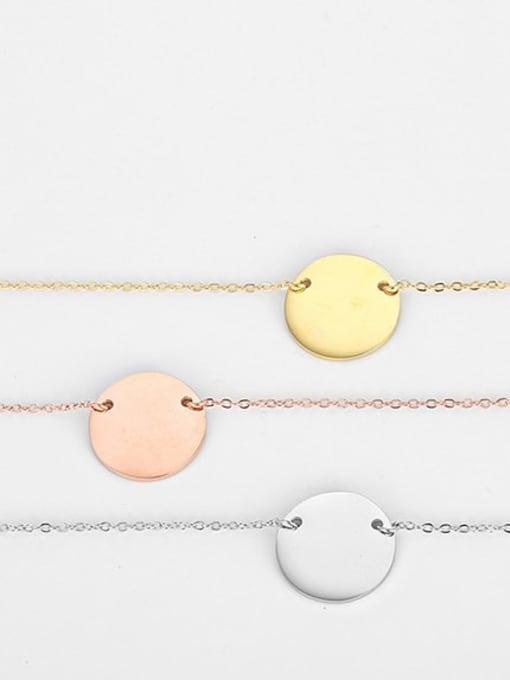 Desoto Stainless steel Bead Geometric Minimalist Necklace 3