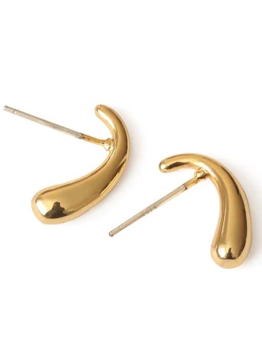 Section 2 Brass Ball Hip Hop Stud Earring
