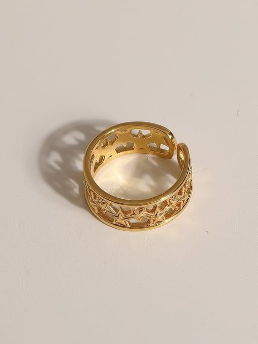 JZ106 Brass Geometric Vintage Band Ring