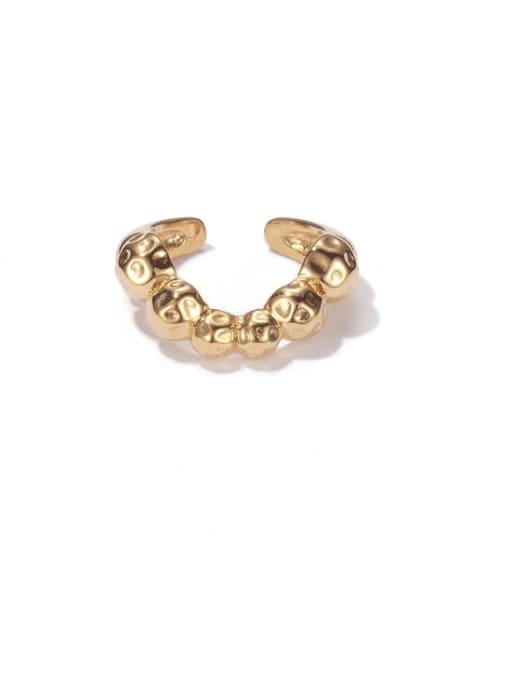 ACCA Brass Irregular Vintage Band Ring 0