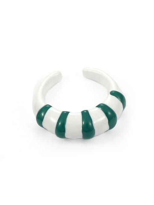 Section 2 (No. 6 and No. 7) Zinc Alloy Enamel Heart Minimalist Band Ring
