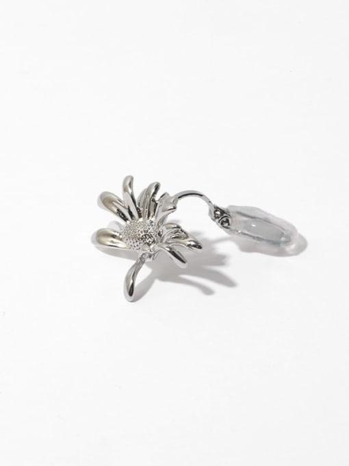 Triangle clip ear clip (sold separately) Brass Flower Vintage Single  Clip Ear Clip