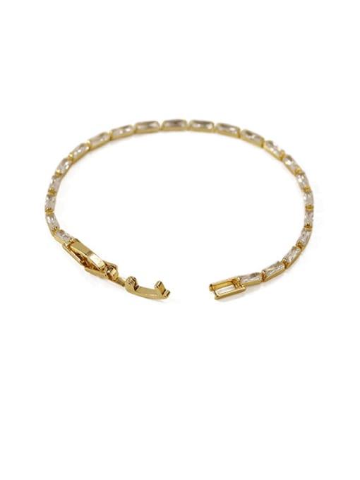 ACCA Brass Cubic Zirconia Geometric Vintage Bracelet