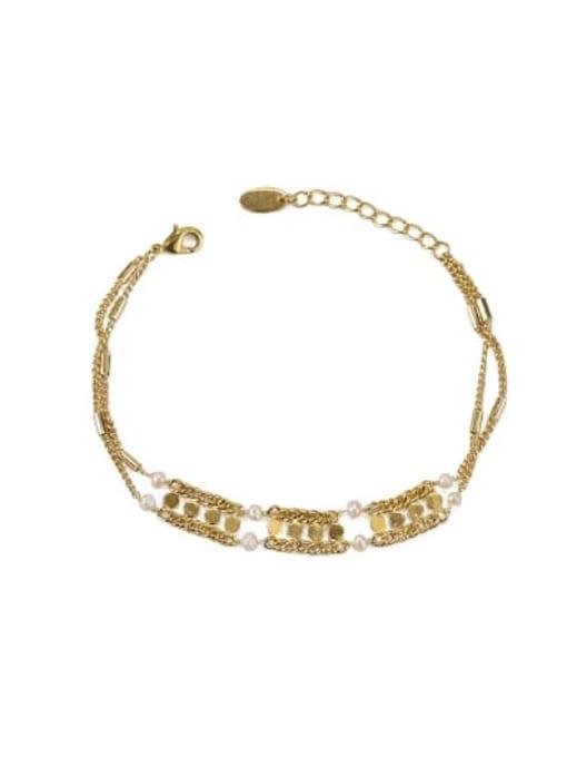 gold Bracelet Brass Hollow Geometric chain Vintage Choker Necklace