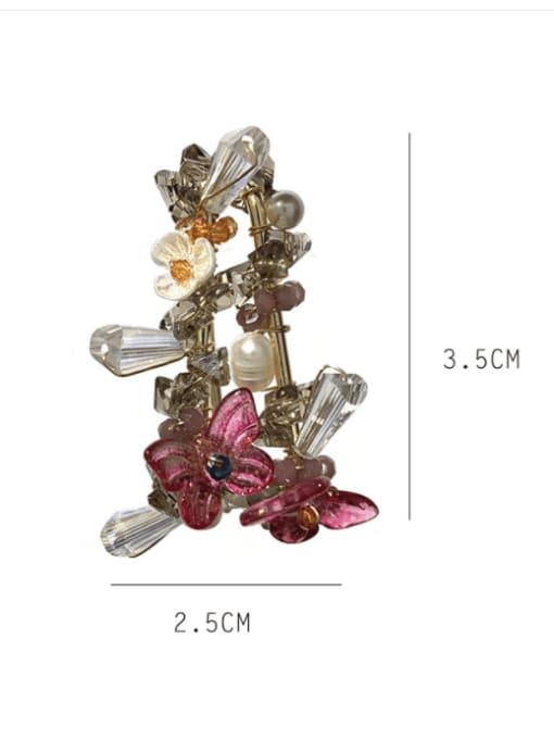 SUUTO Brass Cubic Zirconia Geometric Bohemia Huggie Earring 1