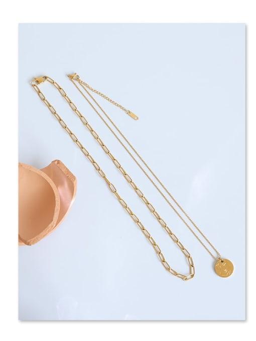 Five Color Titanium Steel Geometric Minimalist Necklace 2