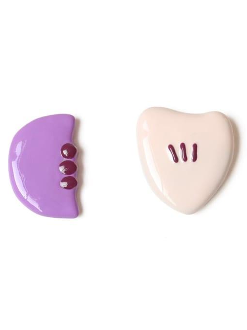 Five Color Alloy Enamel Geometric Cute Stud Earring