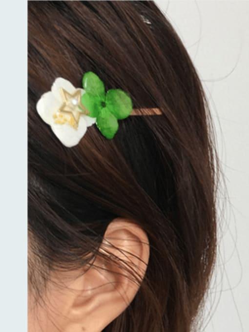 Five Color Alloy Enamel Cute Flower  Hair Pin 1