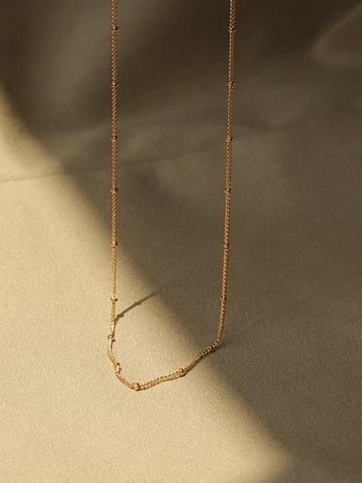 ACCA Brass Irregular Minimalist Bead Chain 0