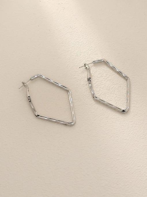 HYACINTH Brass Geometric Minimalist Huggie Trend Korean Fashion Earring 2