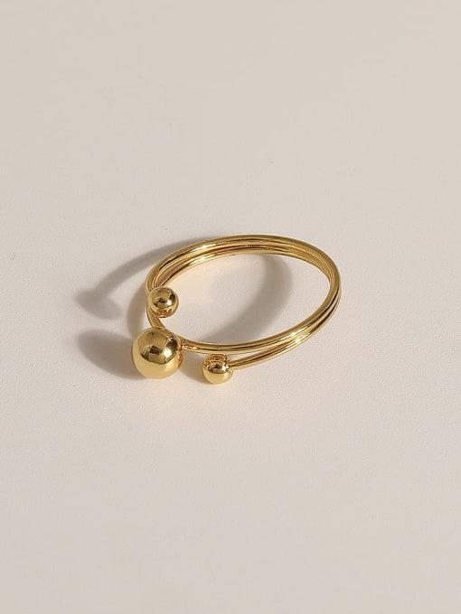 JZ100 Brass Geometric Vintage Band Ring