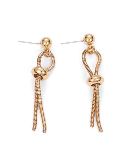 Earring pair (no natural stone) Brass Geometric Hip Hop Drop Earring
