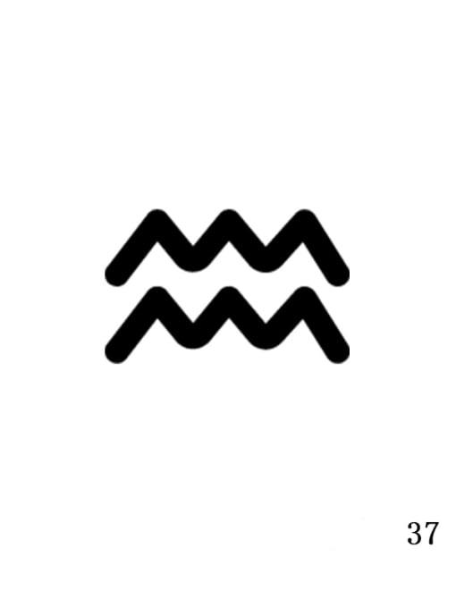 Steel color XZ 37 Aquarius Stainless steel Constellation Minimalist Geometric  Pendant  Necklace
