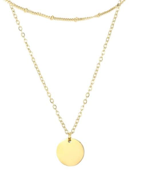 Desoto Stainless steel Locket Minimalist Multi Strand Necklace 0